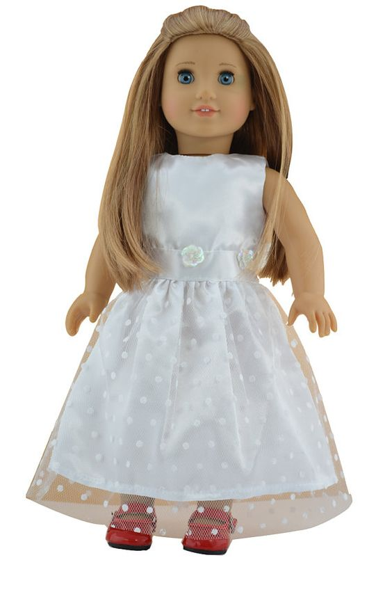 18'' American Girl Doll Clothes White Party by greatdeal4girls, $9.99