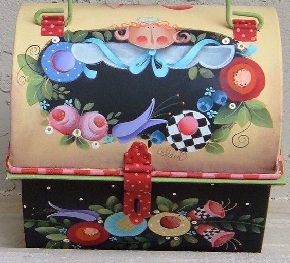 Decorative Box Lunches : Sr lunch box g decorative painting
