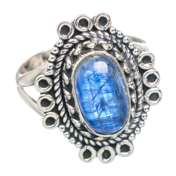 Rare Kyanite 925 Sterling Silver Ring Size 7.25 RING737728