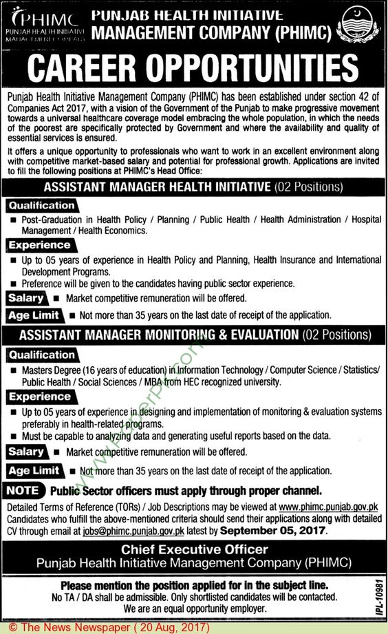 Abwa Knowledge Village Council Faisalabad Jobs Jobs In Pakistan - chief executive officer job description