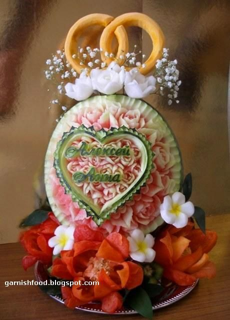 27 Awesome watermelon carvings for weddings images