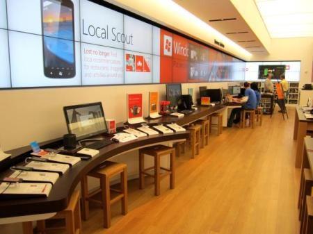 Sneak peek: the new Microsoft store at The Domain. Photos by Omar Gallaga, American-Statesman
