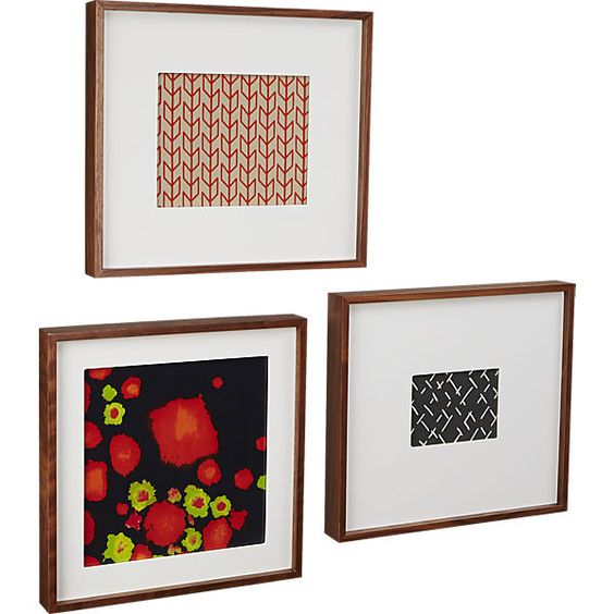 walnut box picture frames cb2