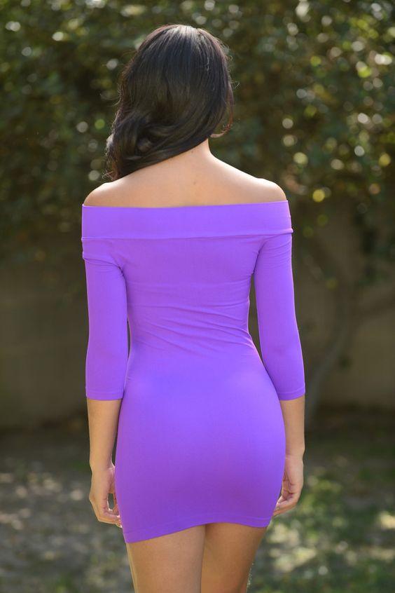 All Curves Mini Dress - Purple | Fashion Nova
