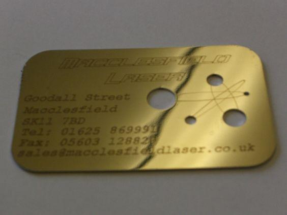 Carte de visite gravure laser
