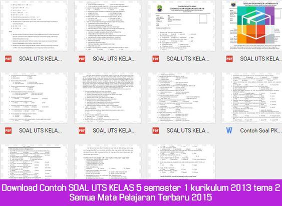 Download Contoh Soal Uts Kelas 5 Semester 1 Kurikulum 2013 Tema 2 Semua Mata Pelajaran Terbaru 2015 Microsoft Excel Education Microsoft Windows