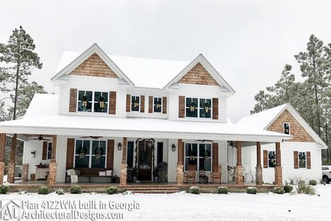 Plan 4122WM: Country Home Plan With Marvelous Porches | Georgia, House And  Porch