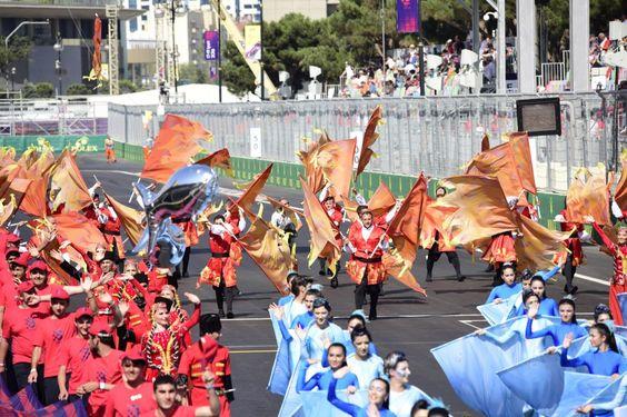 F1 Grand Prix of Europe opening ceremony underway in Baku - AZERTAC - Azerbaijan State News Agency