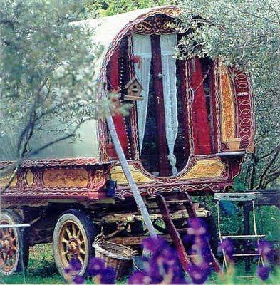 Gypsy wagon.