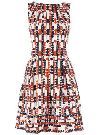 Multi circle print dress
