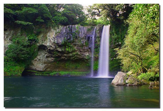 Cheonjiyeon Waterfall, Jeju Island, Korea: Places To Visit, Cheonjiyeon Waterfall, Waterfall Jeju, Places I D, Jeju Island, Photo