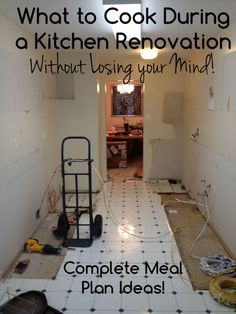 What should you eat during a kitchen renovation? How can you cook? Here are some tips and tricks from our renovation, including a complete meal plan for your renovation, and what tools to have on hand. Little to no prep or cleanup.