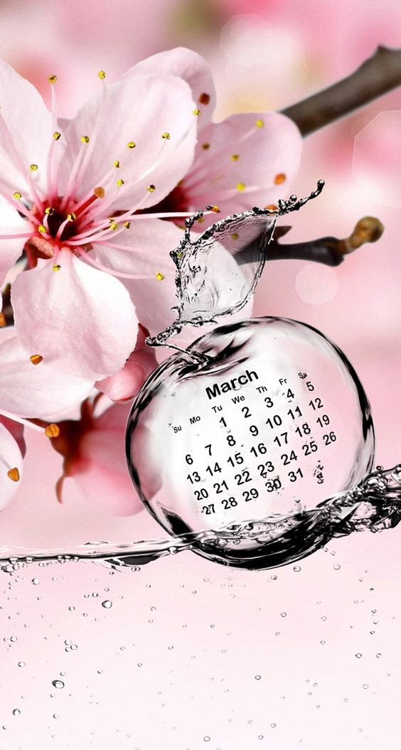 Calendar Wallpaper Love Mae : Wallpaper calendar march love spring wallpapers