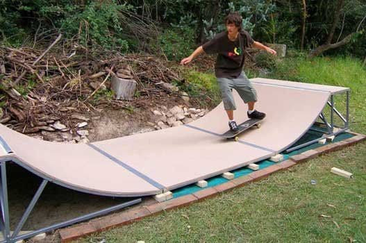 how to make a small skateboard ramp