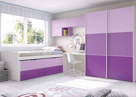 Habitaci n infantil con cama deslizante armario for Armario habitacion infantil