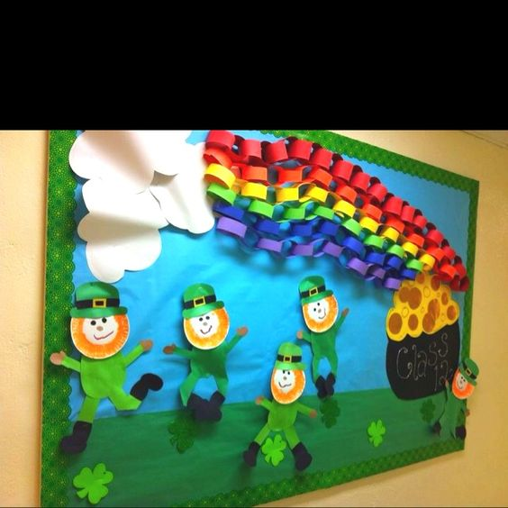 Classroom Leprechaun Ideas ~ Bulletin boards st patrick s day and o brian on