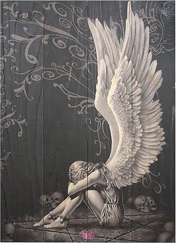 I found 'Enslaved Angel Wooden Art' on Wish, check it out!