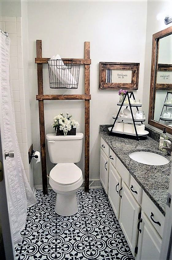 How To Stencil A Tile Pattern On A Bathroom Floor Patterned