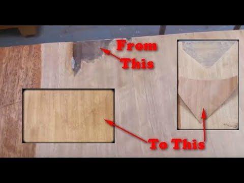 How To Repair Veneer Furniture Using A Wood Veneer Patch Youtube Wood Veneer Veneers Repair