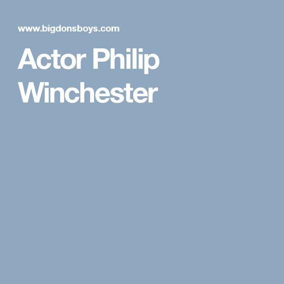 Actor Philip Winchester