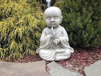 Meditating Zen Buddist Monk Baby Buddha Garden Statue Figurine 14