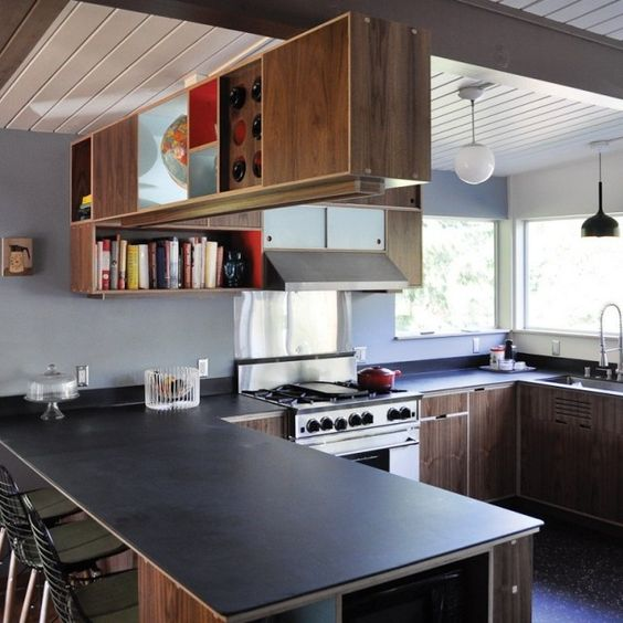 STAINED and COLOR LAMINATED plywood kitchen cabinets can help ...