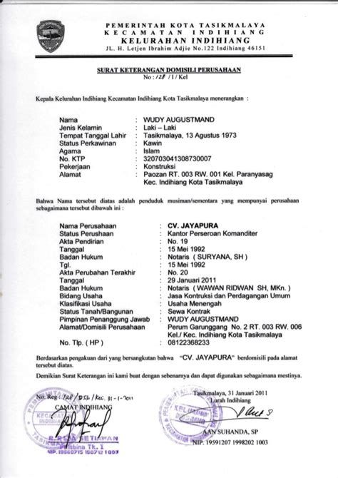 Contoh Surat Domisili Dri Rt Contoh Surat Domisili Dri Rt
