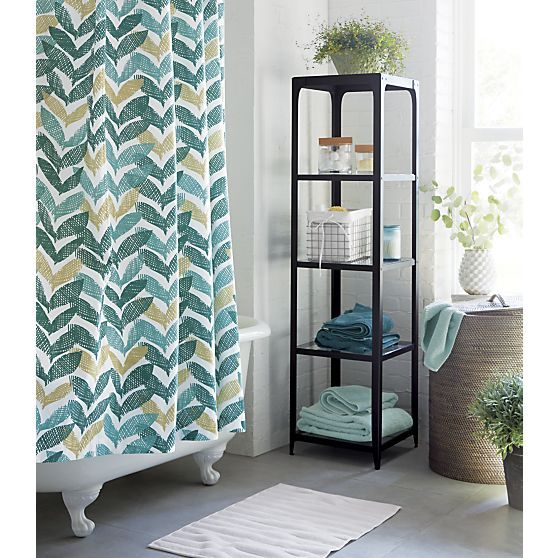 Shower Curtains crate and barrel shower curtains : White Bath Mat - Crate and Barrel | Shower curtain rings, Blue ...