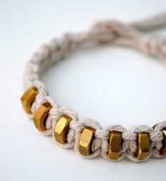 Fun DIY Jewelry Ideas | Cool Homemade Jewelry Tutorials for Adults and Teens | Awesome Bracelets, Necklaces, Earrings and Accessories You Can Make At Home | String & Hexnut Bracelet | http://diyprojectsforteens.com/fun-diy-jewelry-ideas-for-teens