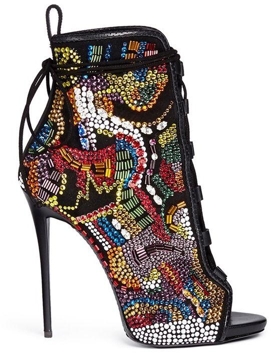 Giuseppe Zanotti DESIGN 'Coline' bohemian strass suede boots on shopstyle.com