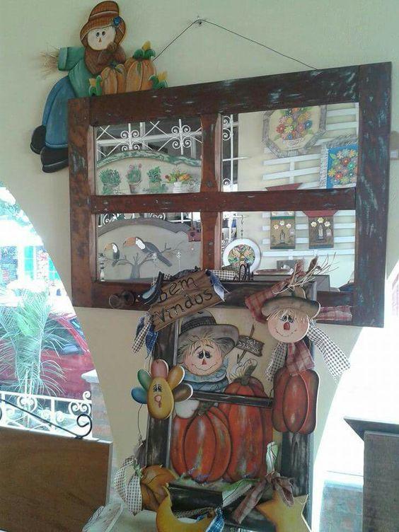 Fiz um lindo espelho com janela de demolição 😍