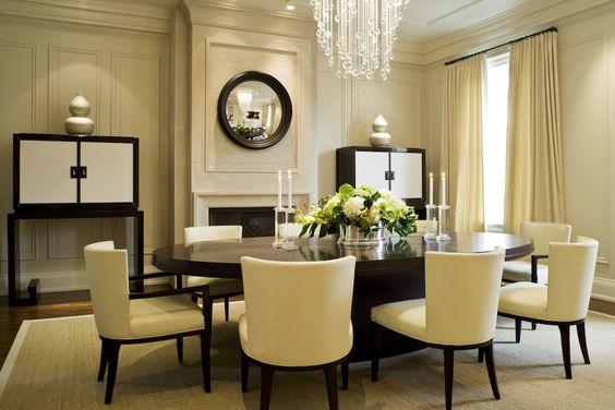Lighitng in this dining room: Cascade Luminaire | Boyd Lighting