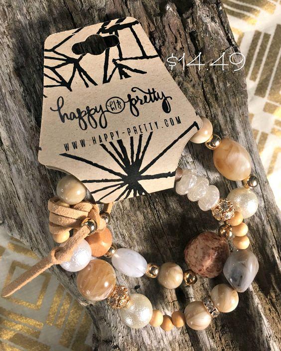 Stone Double Strand Stretch Bracelet