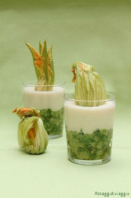bicchierini con caviale di zucchine e crema di Parmigiano