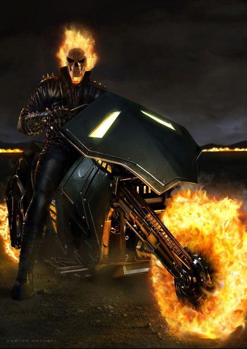 #Ghost #Rider #Fan #Art. (Ghost Rider) By: By: Carlos Dattoli. ÅWESOMENESS!!!™ ÅÅÅ+