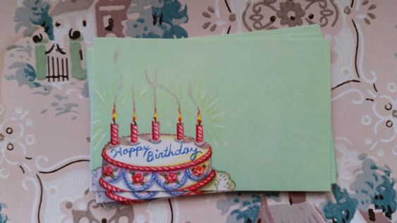 12 Vintage Happy Birthday Florist Cards by ZoesOldeShoppe