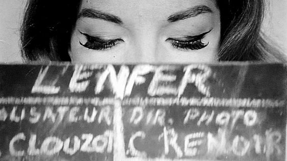 Romy Schneider on the set of L'Enfer.