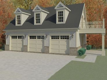 Shops garage apartment plans and house plans on pinterest for House plans with detached guest house