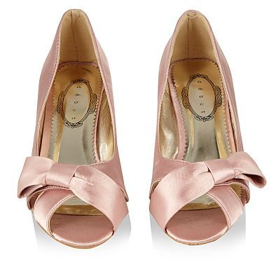Light pink cross bow strap kitten heels - Mid heel shoes - Shoes ...