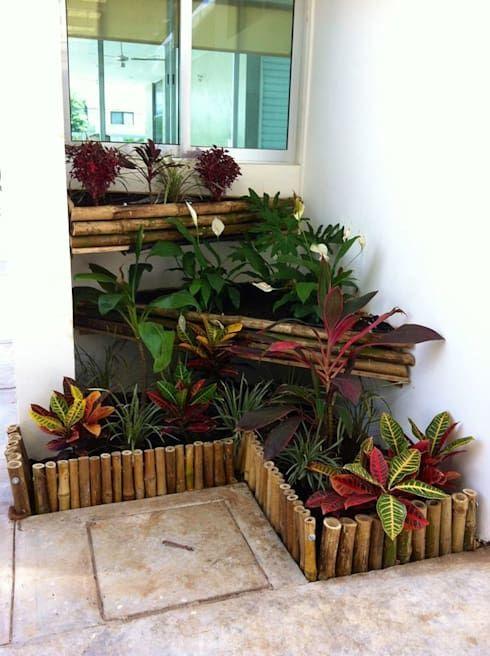 Jardineras Con Bambu