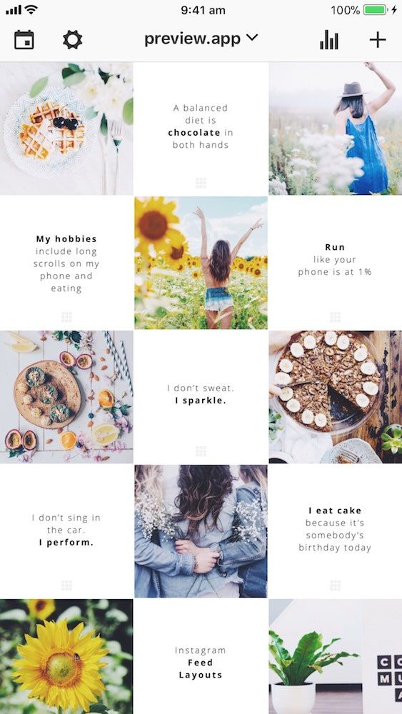How To Make A Tiles Feed Instagram Layout With Quotes With
