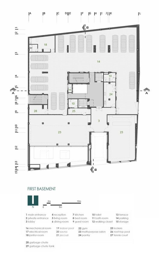 Sipan Residential Building,Floor Plan