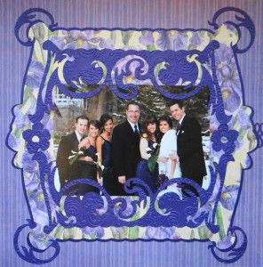 Wedding Party scrapbook page with a great Frame from Cricut's Reminisce