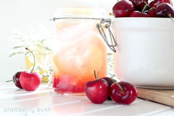 Cherry Lemonade...(two ways) via Craftberry Bush - so refreshing!
