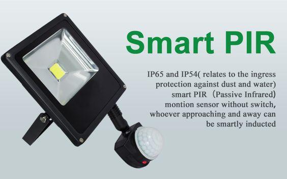 Smart PIR led flood light