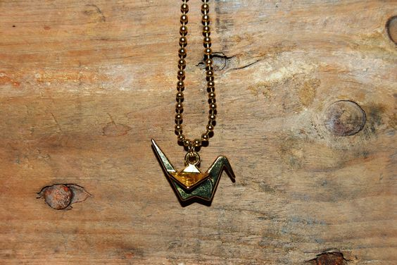 3d origami vogel ketting GOUD door EarlybirdiesNL op Etsy
