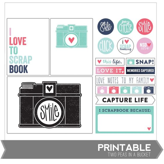 Free Printable Capture Life | [ One Velvet Morning ]  ~~  have to set up a (free) account at Two Peas In A Bucket