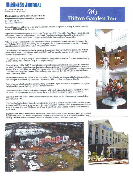Hilton Garden Inn Beaverton OR Info Hotels Pinterest