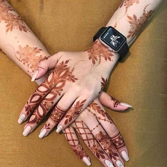 صور حنه 2020 شاهد أجمل نقوش حناء للبنات و العرائس Mehndi Designs Pretty Henna Designs Henna Designs Hand