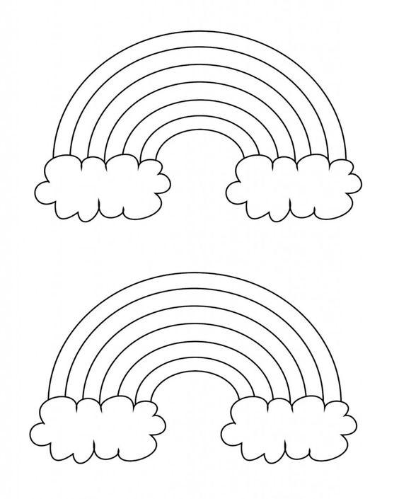 free printable rainbow templates small medium large coloring